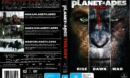 Planet of the Apes (2011) Trilogy R4 DVD Cover