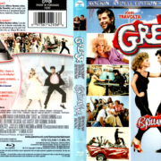 GREASE (1978) R1 BLU-RAY COVER & LABEL