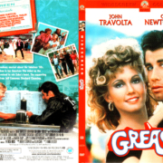 GREASE (1978) R1 SLIM DVD COVER & LABEL