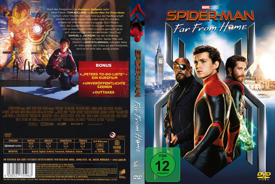 Spider Man Far From Home 2019 R2 German Dvd Covers Dvdcover Com