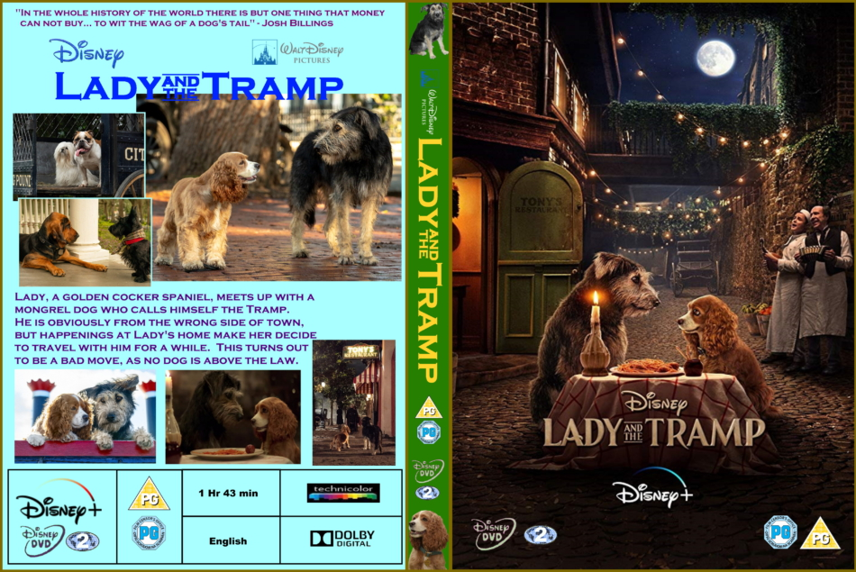 Lady And The Tramp 2019 R2 Custom Dvd Cover Dvdcover Com