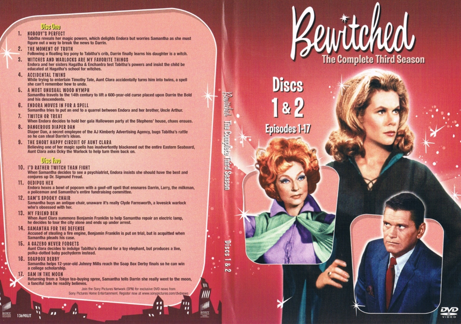 Bewitched Season 3 Discs 1 And 2 R1 Dvd Cover Labels Dvdcover Com