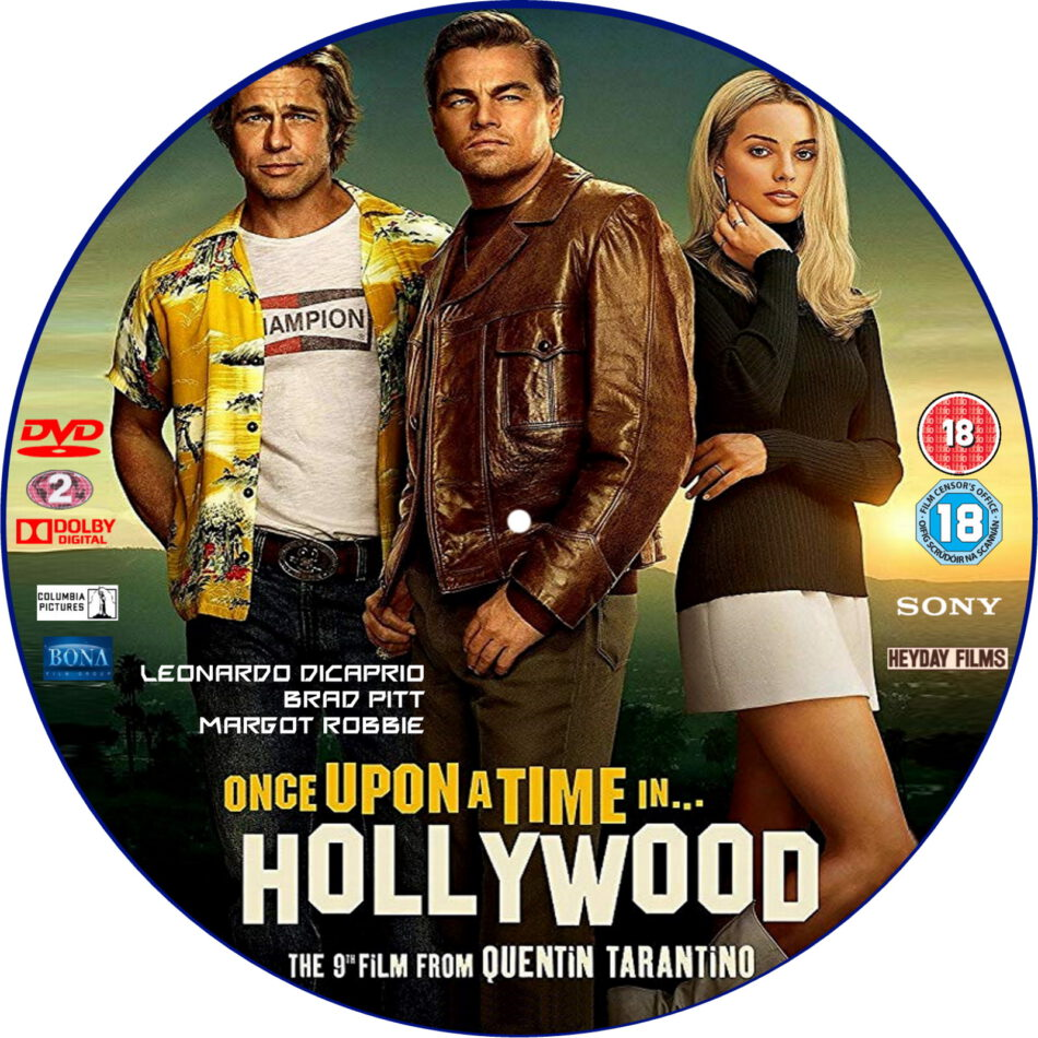 Once Upon A Time In Hollywood 2019 R2 Custom Dvd Label Dvdcover Com