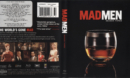 Mad Men: Season Three (2009) R1 Blu-Ray Cover & labels