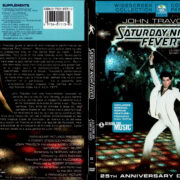 SATURDAY NIGHT FEVER 25TH ANNIVERSARY (1977) R1 DVD COVER & LABEL