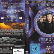 Stargate SG-1 (1997-2007) Staffel 1 R2 German DVD Cover & labels