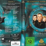 Stargate SG-1 (1997-2007) Staffel 7 R2 German DVD Cover & Labels