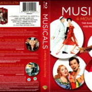 MUSICALS - 4 MOVIE COLLECTION THE BAND WAGON, CALAMITY JANE, KISS ME KATE 3D, SINGIN' IN THE RAIN BLU-RAY COVERS & LABELS