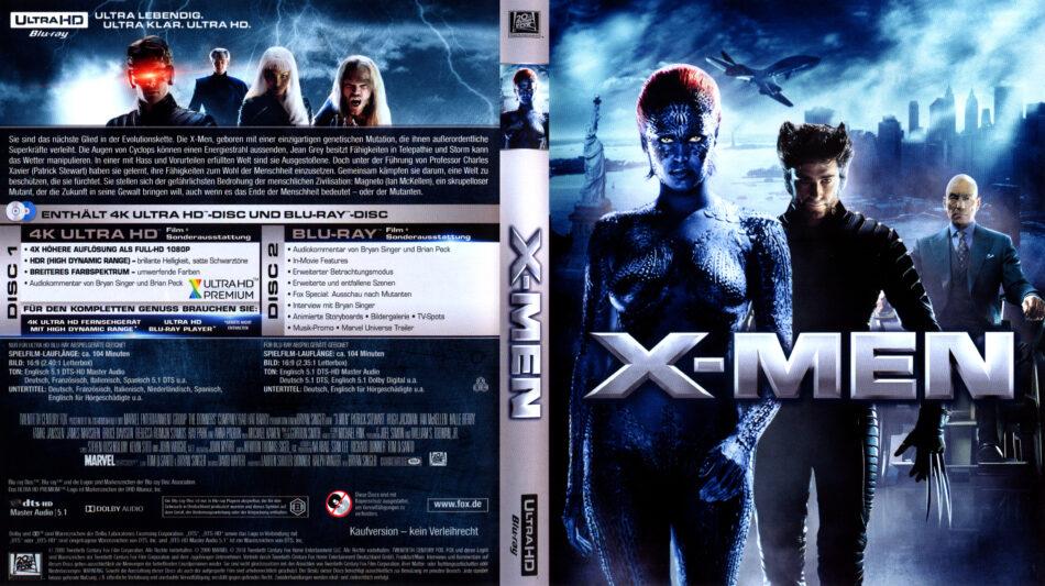 X Men 2000 R2 German 4k Uhd Covers Dvdcover Com