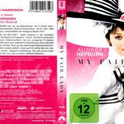 MY FAIR LADY (1964) R2 GERMAN BLU-RAY COVER & LABEL