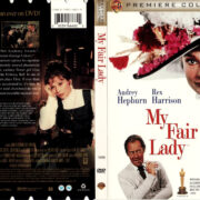 MY FAIR LADY (1964) PREMIER COLLECTION R1 DVD COVER & LABEL