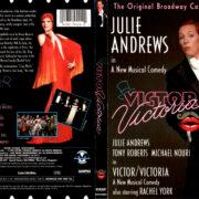 VICTOR VICTORIA THE BROADWAY CAST (1995) R1 DVD COVER & LABEL