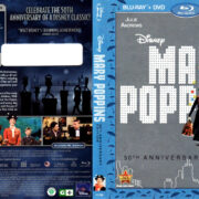MARY POPPINS 50TH ANNIVERSARY (1964) R2 BLU-RAY COVERS & LABELS
