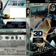 ALITA BATTLE ANGEL (2019) R1 4K UHD / 3D BLU-RAY COVERS & LABELS