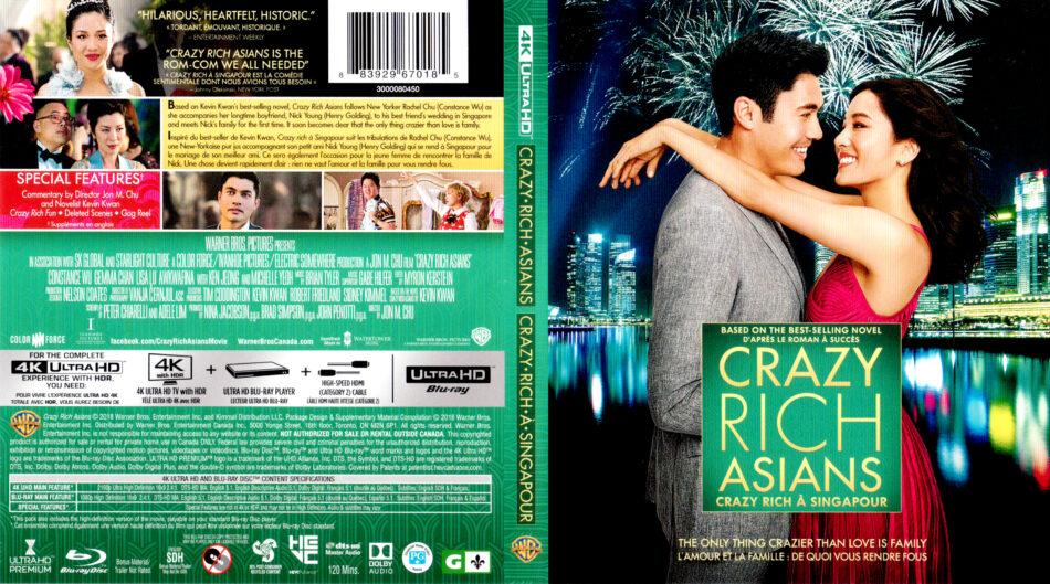 Crazy Rich Asians 2018 R1 4k Uhd Cover Labels Dvdcover Com