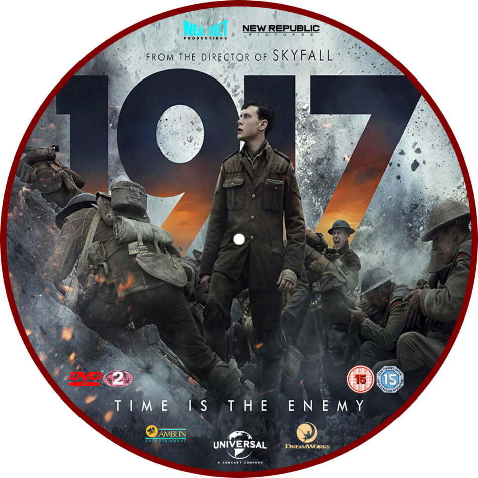 1917  2020  r2 custom dvd label