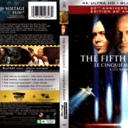 THE FIFTH ELEMENT 20TH ANNIVERSARY EDITION 4K UHD BLU-RAY COVER & LABELS