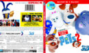 THE SECRET LIFE OF PETS 2 - 3D (2019) R1 BLU-RAY COVER & LABELS