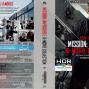 MISSION: IMPOSSIBLE 6 MOVIE COLLECTION R1 4K UHD COVERS & LABELS