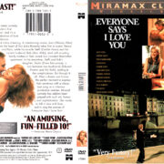 EVERYONE SAYS I LOVE YOU (1996) R1 DVD COVER & LABEL