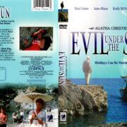 EVIL UNDER THE SUN (1982) R1 DVD COVER & LABEL