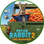 Peter Rabbit 2: The Runaway (2020) R2 Custom DVD Label