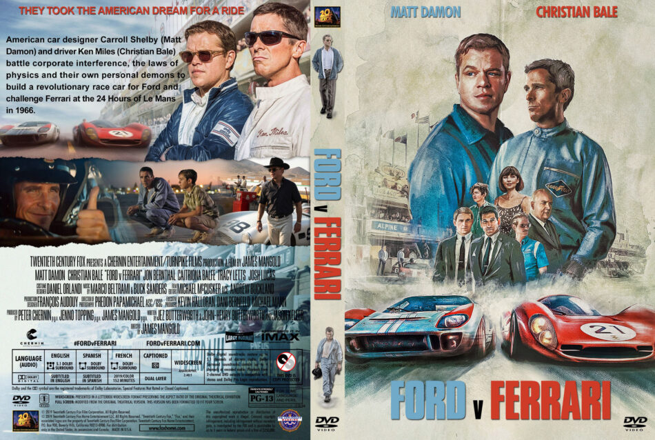 Ford V Ferrari 2019 R1 Custom Dvd Cover Label Dvdcover Com