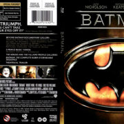 BATMAN (1989) R1 BLU-RAY COVER & LABEL