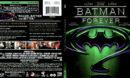 BATMAN FOREVER (1995) R1 SLIM BLU-RAY COVER & LABEL