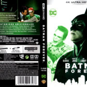 BATMAN FOREVER (1995) (SPAIN) 4K UHD BLU-RAY COVER & LABELS