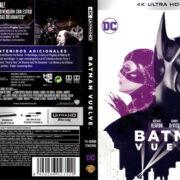 BATMAN VUELVE (RETURNS) (1992) (SPAIN) 4K UHD BLU-RAY COVER & LABELS