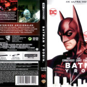 BATMAN Y ROBIN (1997) (SPAIN) 4K UHD BLU-RAY COVER & LABELS