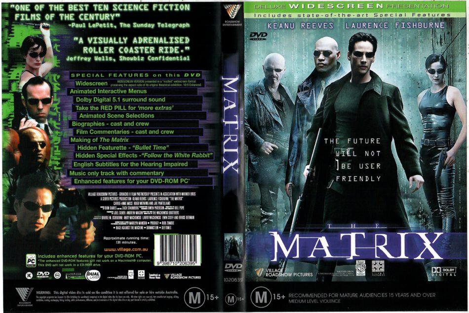 The Matrix 1999 R4 Dvd Cover Dvdcover Com