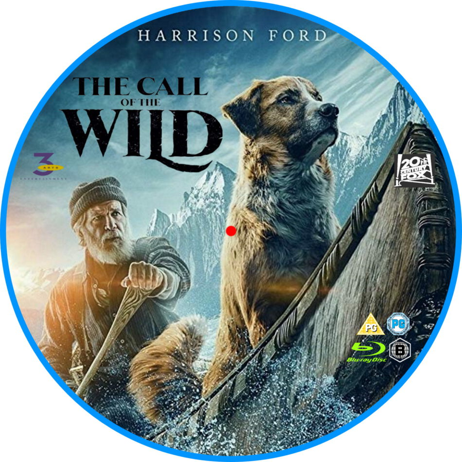 Call Of The Wild (2020) R2 Custom Blu-Ray Label - DVDcover.Com