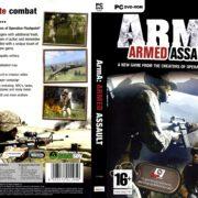 ArmA: Armed Assault (2006) EU PC DVD Cover & Label