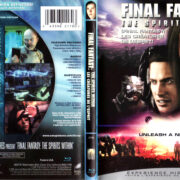 FINAL FANTASY THE SPIRITS WITHIN (2001) R1 BLU-RAY COVER & LABEL