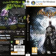 Batman: Arkham Asylum (2009) GER PC DVD Cover & Label