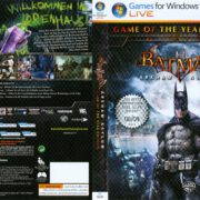 Batman: Arkham Asylum - GOTY (2010) GER PC DVD Cover & Label