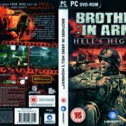 Brothers in Arms: Hell's Highway (2008) UK PC DVD Cover & Label