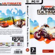 Burnout Paradise: The Ultimate Box (2009) EU PC DVD Cover & Label