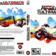 Burnout Paradise: The Ultimate Box (2009) US PC DVD Cover & Label