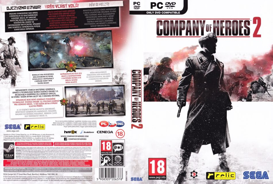 Company Of Heroes 2 2013 Cz Pc Dvd Cover Labels Dvdcover Com