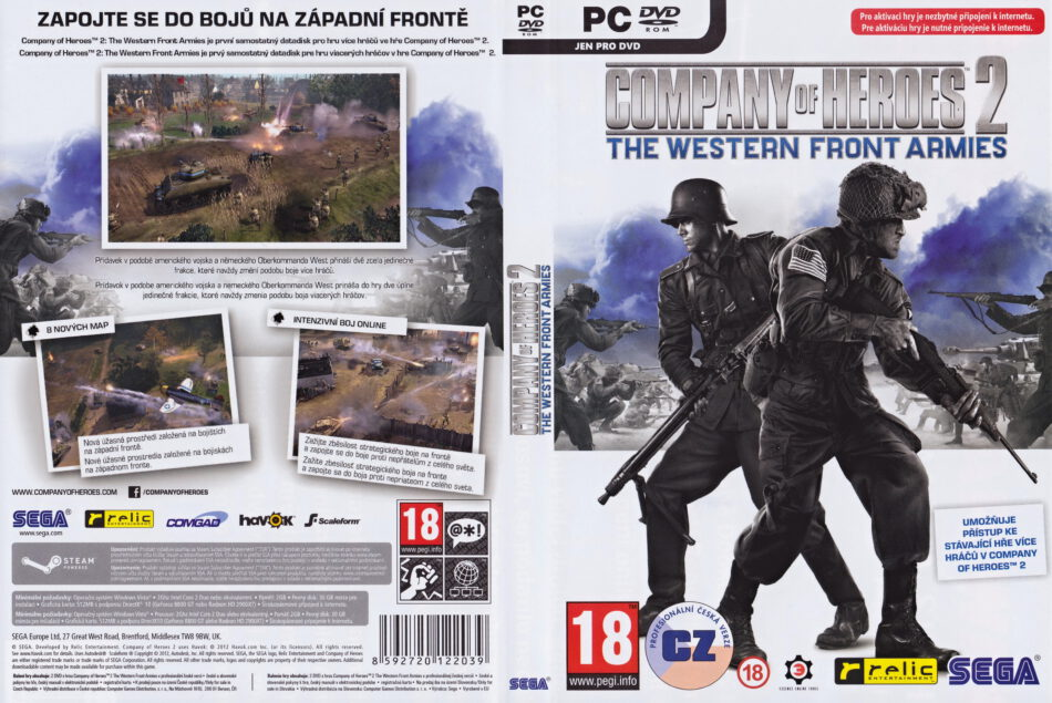 Company Of Heroes 2 The Western Front Armies 2014 Cz Sk Pc Dvd Cover Labels Dvdcover Com