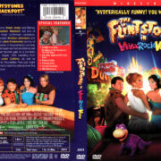 THE FLINTSTONES IN VIVA ROCK VEGAS (2000) R1 DVD COVER & LABEL