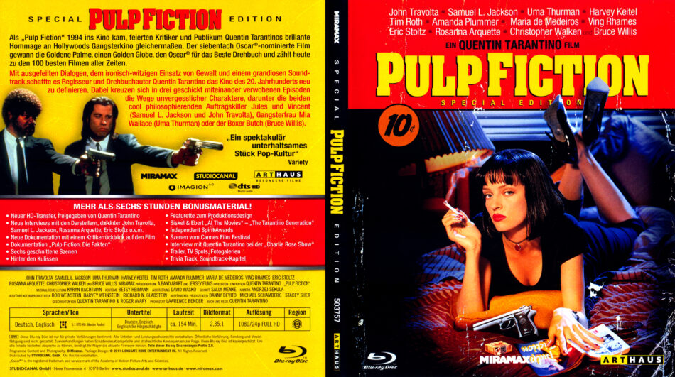 Pulp Fiction 1994 German Blu Ray Covers Dvdcover Com