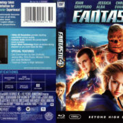 FANTASTIC 4 (2005) BLU-RAY COVER & LABEL