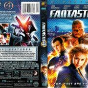 FANTASTIC 4 (2005) R1 DVD COVER & LABEL