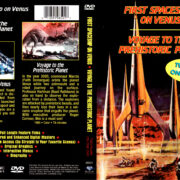 FIRST SPACESHIP ON VENUS - VOYAGE TO THE PREHISTORIC PLANET (2000) R1 DVD COVER & LABEL