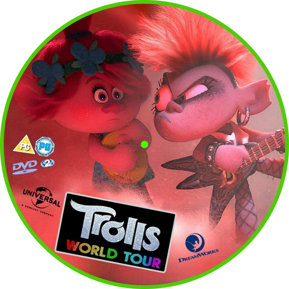 Trolls World Tour 2020 R2 Custom Dvd Label Dvdcover Com