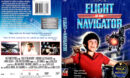 FLIGHT OF THE NAVIGATOR (1986) R1 DVD COVER & LABEL